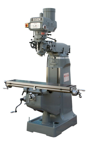 EISEN S-2A 9x49 Milling Machine, 3HP, Bridgeport-style, Free X-axis Powerfeed