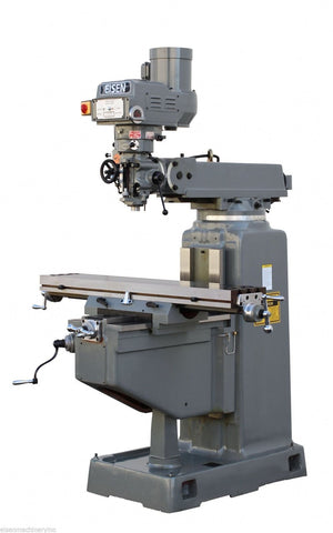 EISEN S-3AB Milling Machine, Boxways, 10x54 Table, 3HP, R8, Free DRO