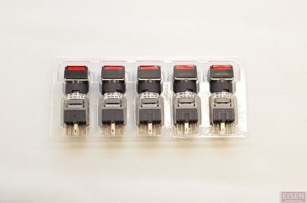 FUJI AH164-SL5R11E3 Red Pushbutton Command Switch 24VDC LED (Pack of 5)