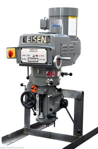 Eisen S-2AH milling machine head, R8 taper, 3 HP, 440V, 3-phase