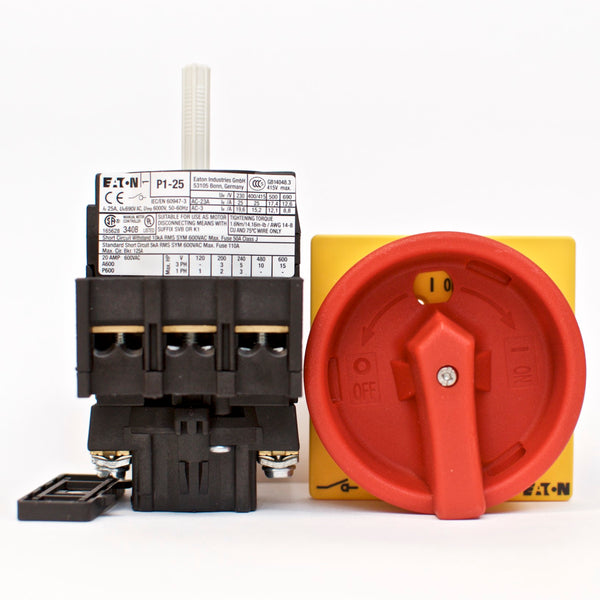 Eaton / Moeller main switch P1-25/EA/SVB, flush mounting