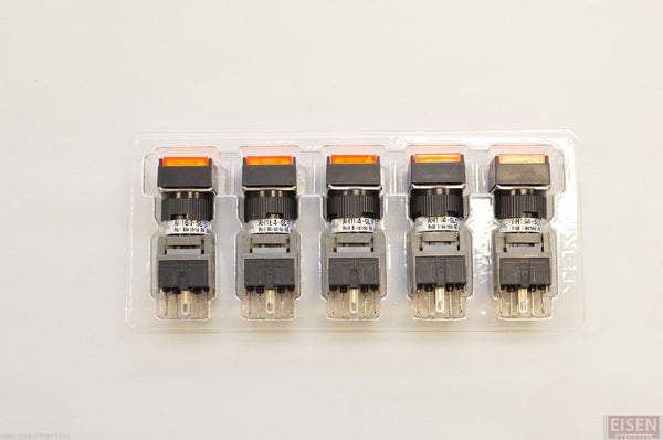 FUJI AH164-SL5O11E3 Orange Pushbutton Command Switch 24VDC LED (Pack of 5)