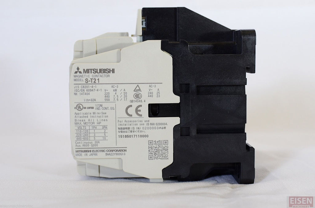 Mitsubishi S T21 Magnetic Contactor 200 240v Coil