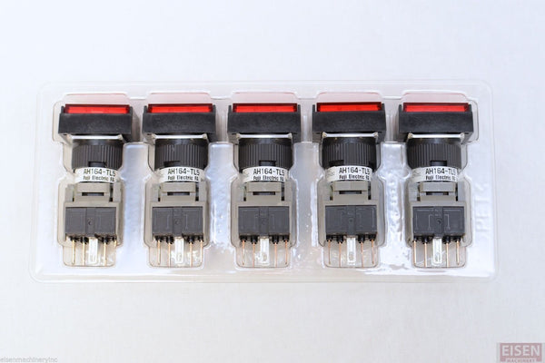 FUJI AH164-TL5R11E3 Red Pushbutton Command Switch 24VDC LED (Pack of 5)