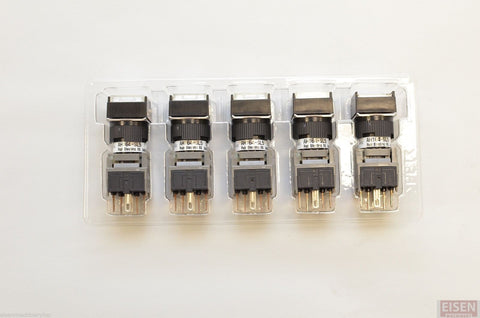 FUJI AH164-SL5W11E3 White Pushbutton Command Switch 24VDC LED (Pack of 5)