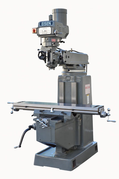 "EISEN S-4A Milling Machine, 10""x54"" Table, 5 HP, NT40, Free 2-axis DRO"
