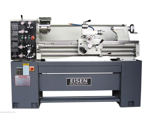 "EISEN 1440E 14"" x 40"" Engine Lathe with DRO, Made in Taiwan, 220V 3PH 4P/8P"