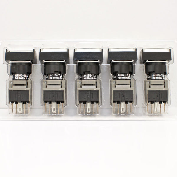 FUJI AH165-TL5W11E3 White Pushbutton Command Switch 24VDC LED (Pack of 5)