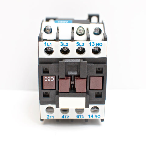 NHD C-09D10E7 magnetic contactor for 3HP motor, 120V coil, normally open
