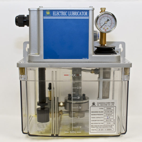 CEN03 Pressure Relief Electric Lubricator CEN03 3 Liter, 220VAC Lubrication Unit
