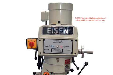 Eisen S-2AH-NT30 milling machine head, NT30 taper, 3 HP, 220/440V, 3-phase