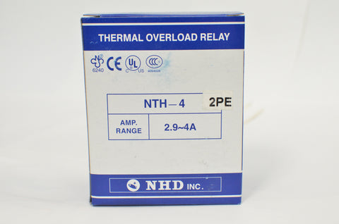 NHD thermal overload relay NTH-4 2PE,  2.9 ~ 4 amp