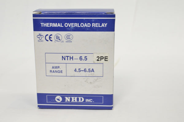 NHD thermal overload relay NTH-6.5 2PE,  4.5 ~ 6.5 amp