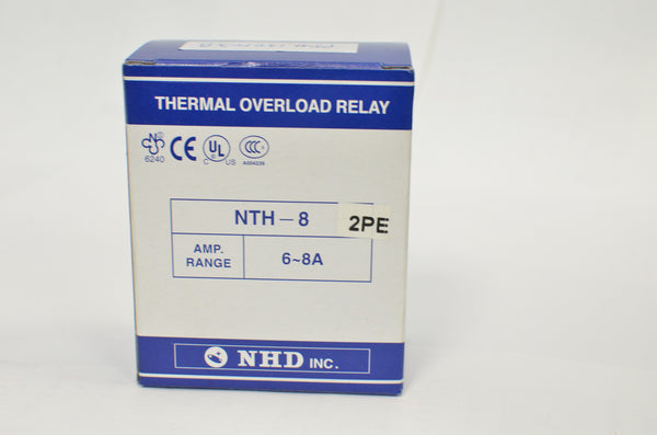 NHD thermal overload relay NTH-8 2PE,  6 ~ 8 amp