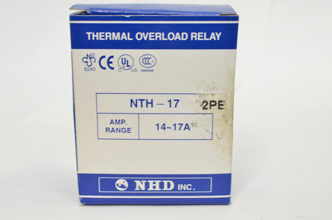 NHD thermal overload relay NTH-17 2PE,  14 ~ 17 amp