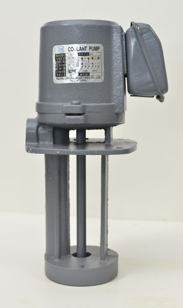 "1/8 HP Cast Iron Immersion Coolant Pump, 220V/440V, 3PH, Shaft Length 6"" (150mm)"