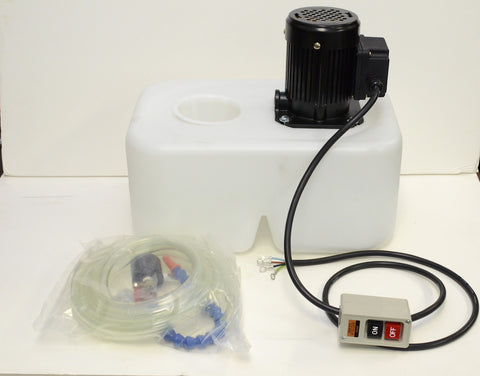 1/8 HP coolant system with 13L tank, pump & nozzle, 220V/440V 3PH (SP)