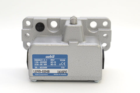 Yamatake AZBIL LDVS-5204S IP67 Limit Switch, Overtravel Switch for CNC machines