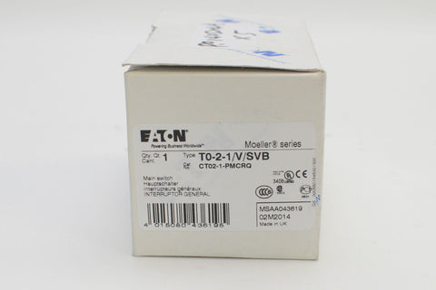 Eaton Moeller main switch T0-2-1-V-SVB  CT02-1-PMCRQ