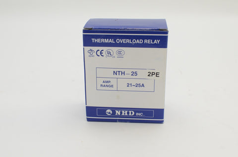 NHD thermal overload relay NTH-25 2PE, 21 ~ 25 amp