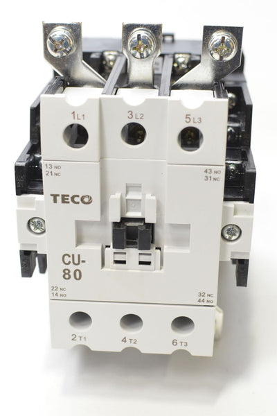 TECO CU-80 Magnetic Contactor, 104 Amp, 3 Phase, 110V Coil, 3A2a2b