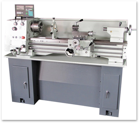EISEN 1236GH Bench Lathe with DRO & Stand, Made in Taiwan, Single-Phase 220V