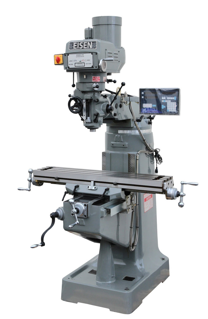 Eisen S 2a 9 Quot X49 Quot Milling Machine 3hp W 2 Axis Dro Free