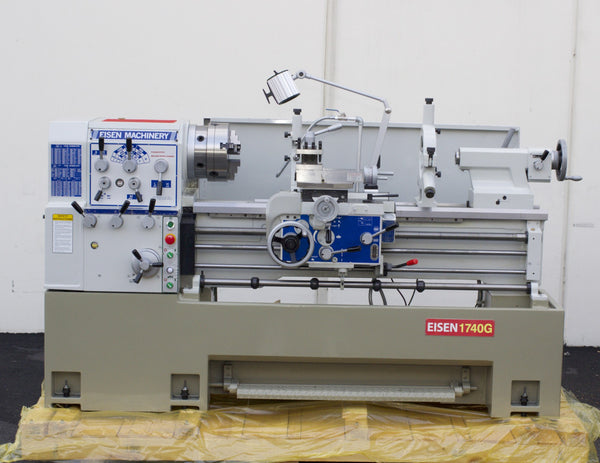 "EISEN 1740G Precision Engine Lathe with 3"" Spindle Bore, 10HP"