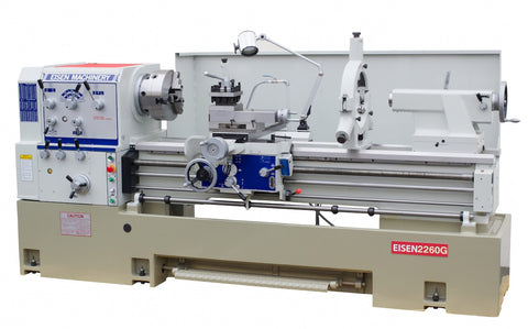 "EISEN 2260G Precision Engine Lathe, 3.3"" Bore, 22"" x 60"", 10HP, Made in Taiwan"
