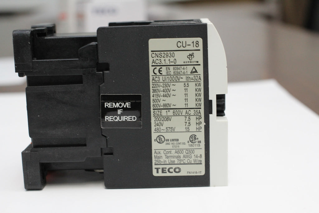 Teco Cu 18 Magnetic Contactor 35 Amp 3 Phase 110v Coil