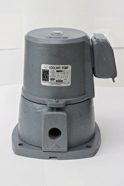 "1/4 HP Cast Iron Suction-Type Coolant Pump, 220V/440V, 3PH, 1/2"" NPT outlet YC"