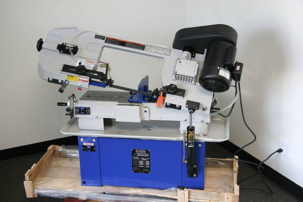 "Eisen 712W Bandsaw. 7""x12"" bandsaw with 1HP, single-phase, UL-listed motor"