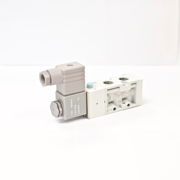 MINDMAN MVSC-260-4E1-AC110, 4-way, 2 position, Single solenoid, 1/4 BSPT, 110VDC