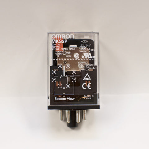 Omron MKS2P DC24V General Purpose Relays 1 Phase 10A 250 VAC 30VDC DPDT (MK2P-S)