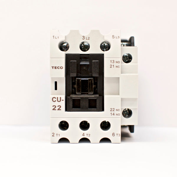 TECO CU-22 Magnetic Contactor, 40 Amp, 3 Phase, 110V coil, 3A1a1b (NO and NC)