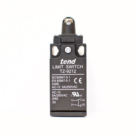 TEND TZ-9212 Limit Switch, Push Button Roller Plunger, 5A/250VAC
