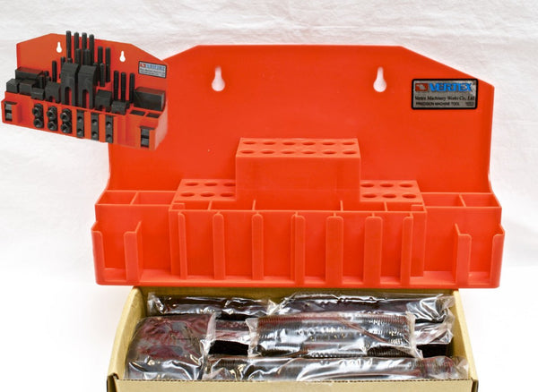 "VERTEX CK-104B 52pc Steel Clamping Kit for 5/8"" T-slot Milling Machine, Taiwan"