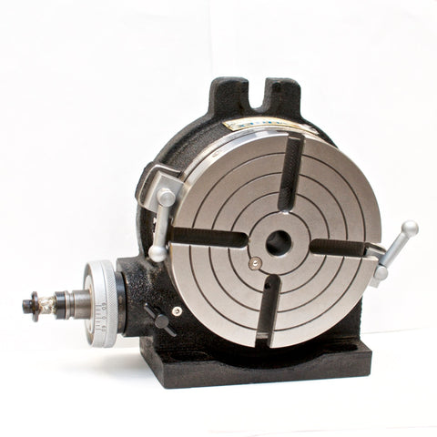 "VERTEX HV-6 (4-Slot) 6"" Horizontal/Vertical Rotary Table with 4-Slot Face Plate"