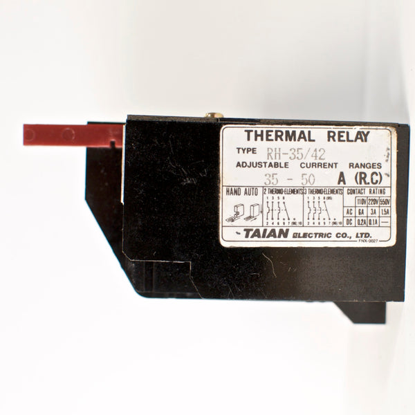 TAINAN RH-35/42 thermal overload relay, Amp range: 35~50A