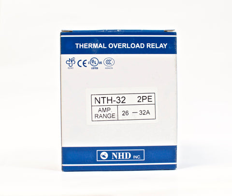 NHD thermal overload relay NTH-32 2PE,  26 ~ 32 amp