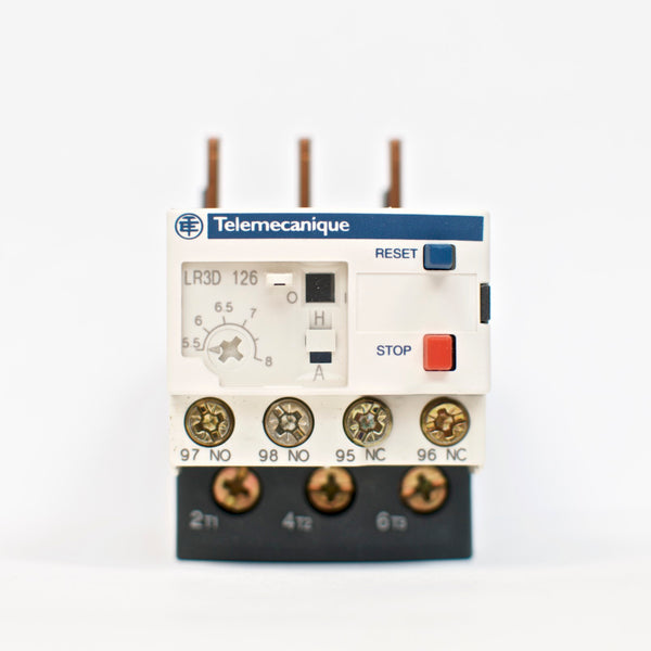 Schneider TeSys LR3D 126, thermal overload relay, 5.5~8 A, class 10A