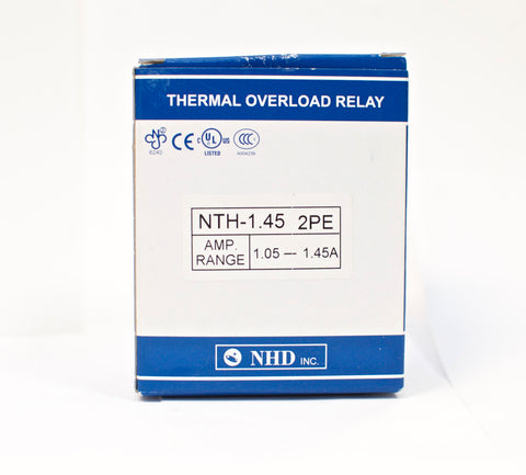 NHD thermal overload relay NTH-1.45 2PE,  1.05 ~ 1.45 amp