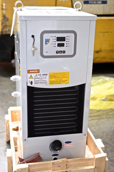 Spindle Oil Cooler, Oil Chiller for CNC, 4000 BTU, HABOR HBO-250PTSB9, 220V, 3PH