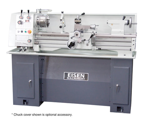 EISEN 1236GH Bench Lathe with Stand, Made in Taiwan, Single-Phase 220V Motor