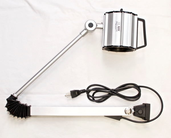 "G-L90 Waterproof 55W Halogen Work Light w/ 32"" Arm 110V Machine worklight"