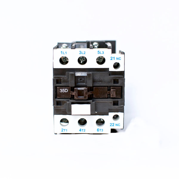 NHD C-35D01D7 magnetic contactor for 15HP motor, 110V coil, normally closed