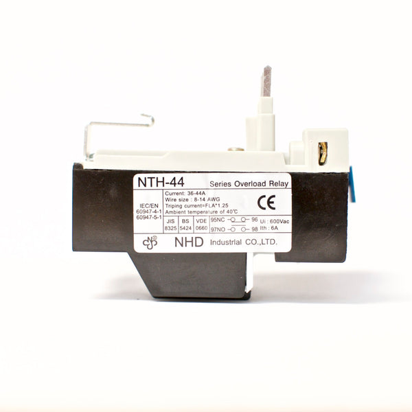 NHD thermal overload relay NTH-44 2PE, 36 ~ 44 amp