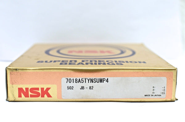 NSK 7018A5TYNSUMP4 Super Precision Angular Contact Bearing 90x140x24, P4