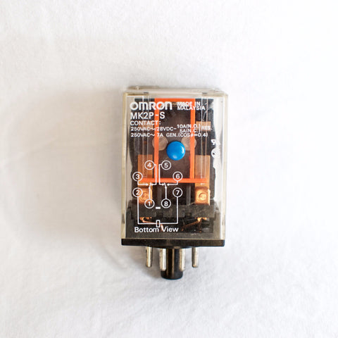 Omron MK2P-S Relay, 24VDC Coil, DPDT, with mechanical indicator & test button
