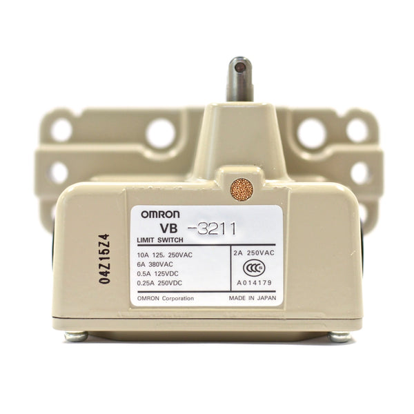 OMRON VB-3211 Monoblock Multiple Limit Switch, Roller plunger 10A 125, 250VAC